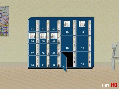 1:87//h0 gepäckschliessfach ouvrirez SBB avec porte ouverte modellland 2112-8