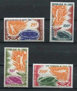 38128) Congo Rep.1964 MNH Olympic Games, Tokyo, 4v