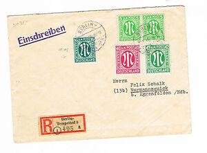 Bi-zone magnifique porto plus équitablement r-lettre recommandé iigewichtsstufe 20.6.1946-e 20.6.1946afficher le titre d`origine ewO2UJRt-07163522-775259651