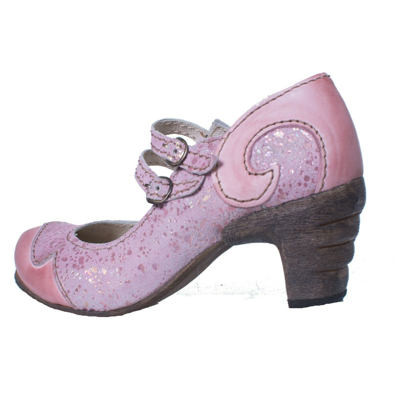 Rovers 51001 crust Costa purple Fabulous Summer Pumps in Pink
