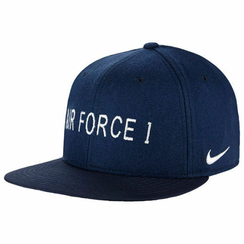 64757c4665aae DS Nike Air Force 1 Af1 Flat Bill True Snapback Hat Navy QT S 745964-410  for sale online