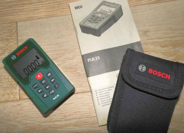 Bosch laser entfernungsmesser plr 25 mit schutztasche ebay