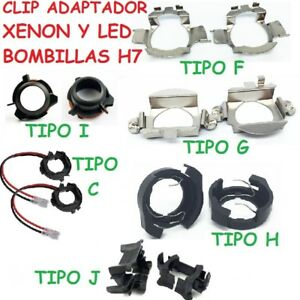 2x Soporte Adaptador Bombilla H7 Kit De Led Kit Xenon Clip Faro