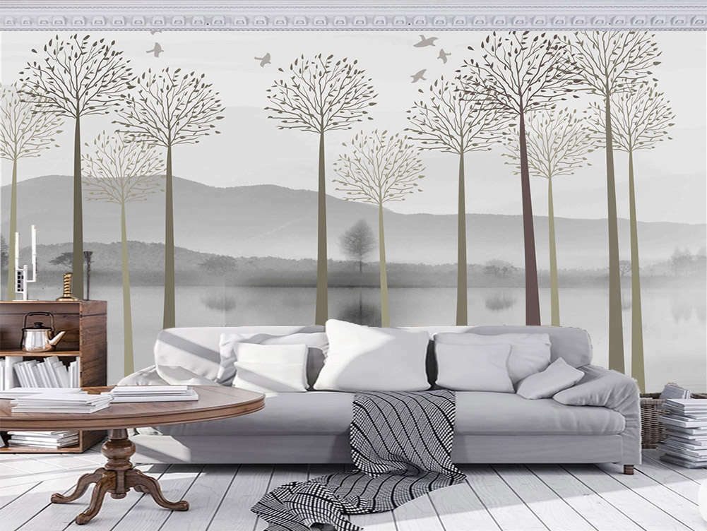 Dark Loyal Branch 3D Full Wall Mural Photo Wallpaper Printing Home Kids Decor
