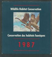 CANADA, CN-3 WILDLIFE CONSERVATION STAMP BOOKLET 1987, GOOSE
