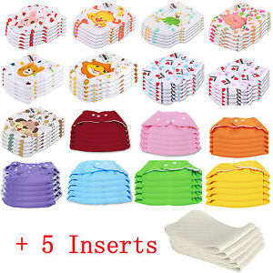 5-PCS-5-INSERTS-Cloth-Diapers-lot-Nappies-Adjustable-Reusable-For-Baby-Newborn