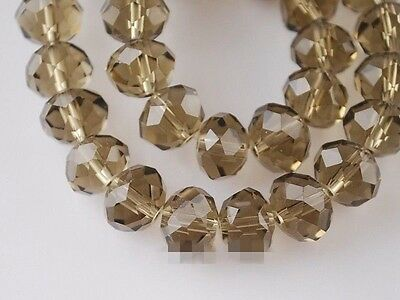Faceted Rondelle Cut Glass Crystals Beads Size 4mm 6mm 8mm 10mm 12mm 16mm 18mm
