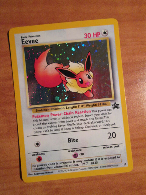 EX EEVEE Pokemon PROMO Card 11 Holo Black Star Set/53 Wizard of the Coast League