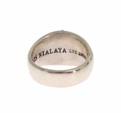 Nuevo $250 Nialaya Anillo Auténtico Para hombre 925 plata esterlina Crest S US12//EU66