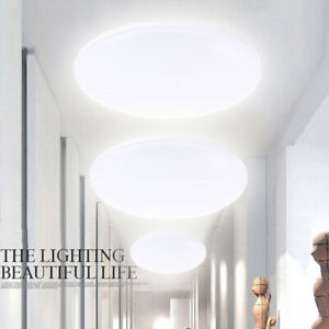 Details About 50w 36w 24w 18w 12w Round Led Ceiling Down Light Panel Bathroom Kitchen Uk