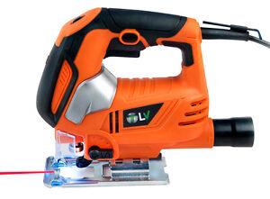 Sierra de calar pendular electrica caladora con laser 600W madera hierro nueva