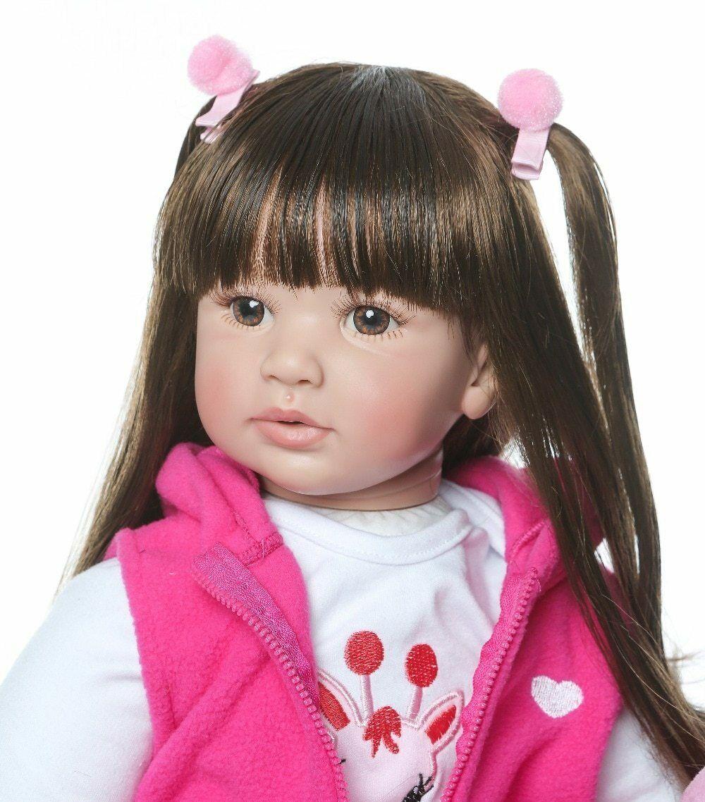 """52CM//20/"""" Monkey Doll Handmade Soft Silicone Vinyl Monkey Baby Xmas Gift K8E0U"""