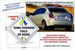 BABY ON BOARD SAFETY REFLECTIVE Magnetic Sign NEW On /& Off with Ease Not a Decal