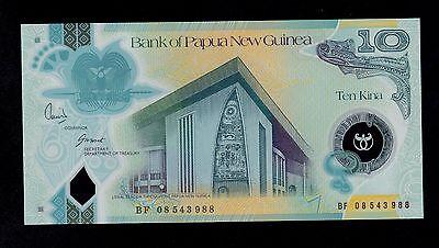 PAPUA NEW GUINEA 10 KINA 2008 UNC P 30 POLYMER