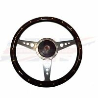 14 Wood Steering Wheel & Adaptor For Mgb 1977-1980 1 Thick Rim