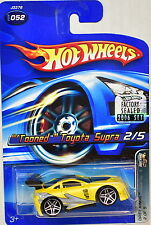 HOT WHEELS 2006 DRIFT KINGS TOONED TOYOTA SUPRA #052 YELLOW FACTORY SEALED