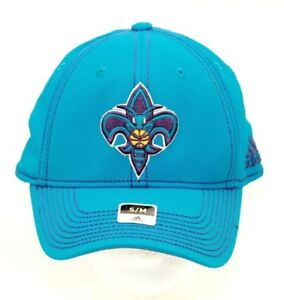 Details About New Orleans Hornets Nba Adidas Embroidered Fleur De Lis Fitted Baseball Hat S M