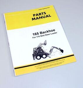 parts manual for john deere 165 backhoe catalog for 170 skid steer rh ebay com John Deere La 165 Parts John Deere 165 Parts Diagram