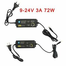 9v 24v 3a Electrical Power Supply Adapter Charger Variable Voltage Adjustable Us