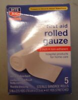 2 Boxs Rite Aid Rolled Sterile Gauze Bandage Rolls 4 In X 2.5 Yds 10 Rolls Total