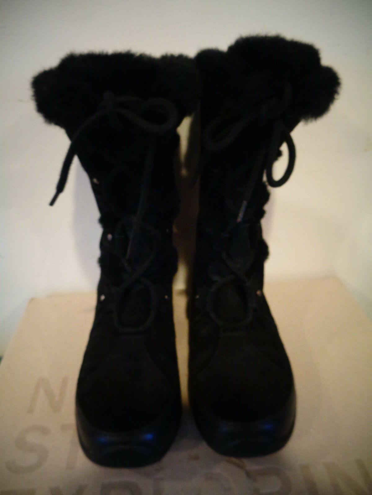 NORTH FACE BLACK SUEDE ABBY III 200 GRAM PRIMALOFT WATERPROOF BOOTS SIZE 7