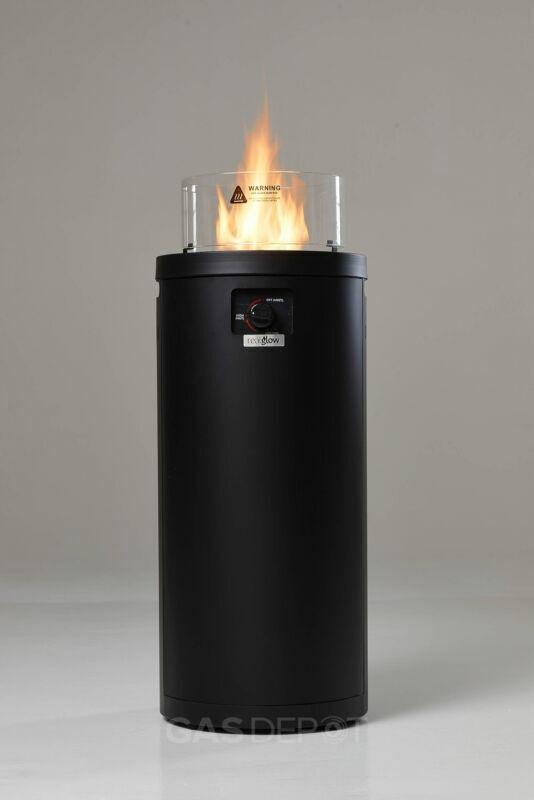 REALGLOW Column Propane Gas Fire Pit Patio Heater 10kw