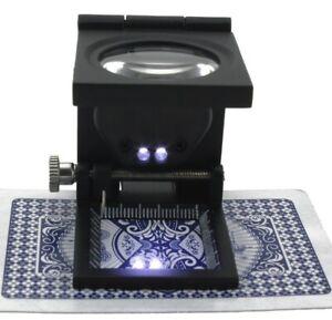 Fadenzaehler-Lupe-10-x-Vergroesserung-LED-Juwelier-Vergroesserungsglas-Linen-Tester