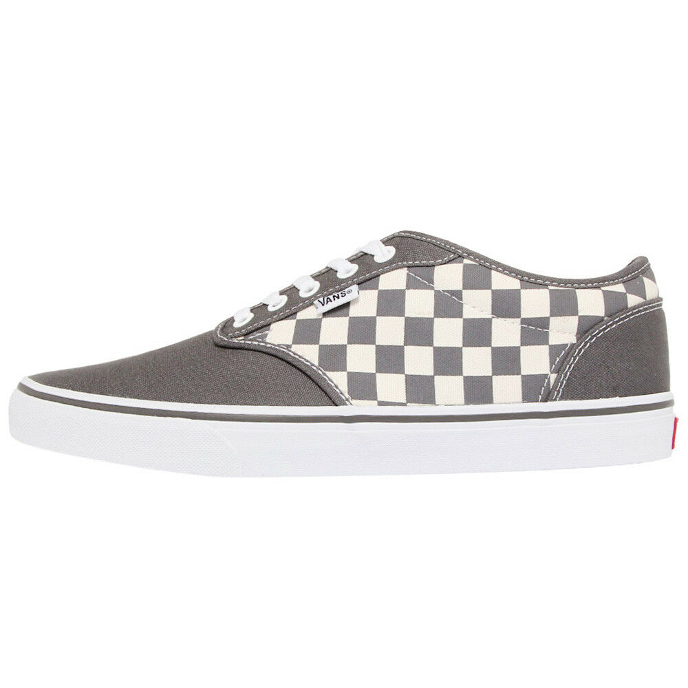 Vans Atwood shoes Grey Men's Sneakers Canvas Textile Gym shoes New 15gipf