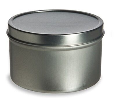 1oz Deep Tin Containers Round with Lids   12    NEW    Candles, Spices, Beads
