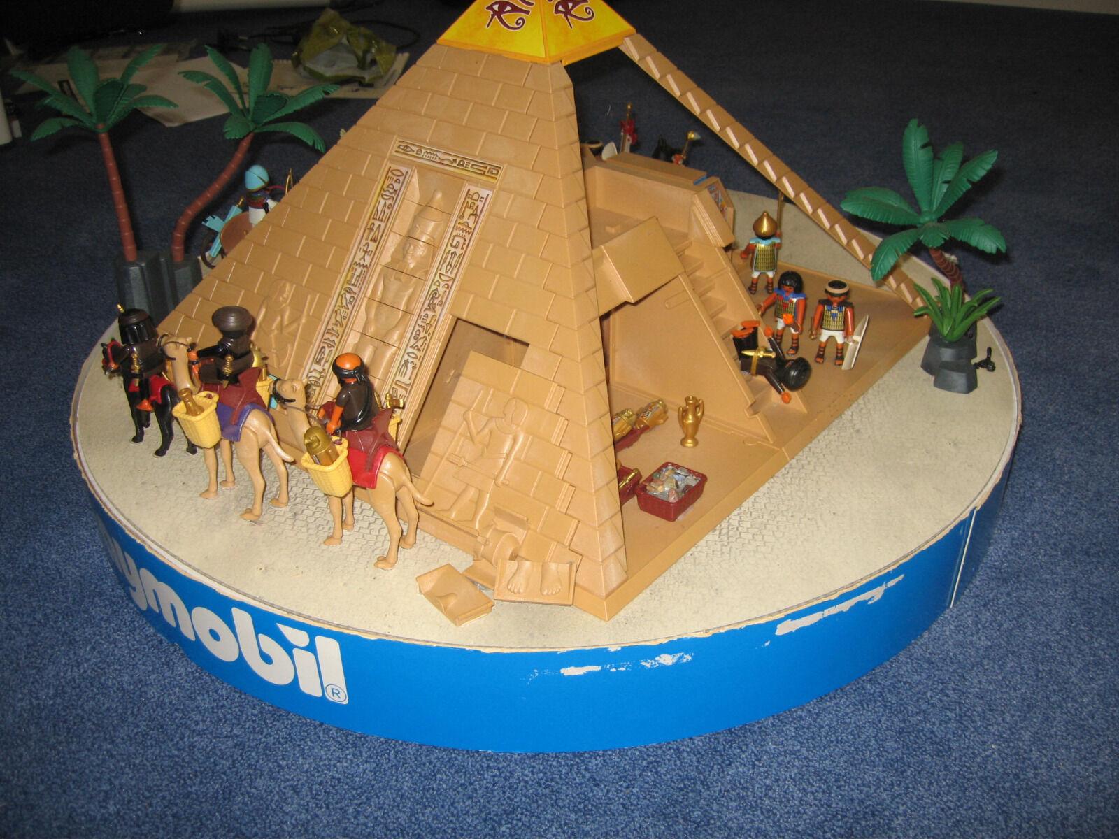 Playmobil Display Ägypten Pyramide Grabräuber Streitwagen 80 cm
