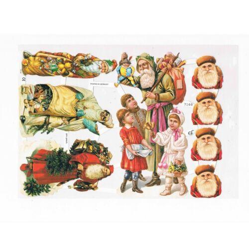 Glanzbilder Weihnachtsmann Nikolaus zu Weihnachten Oblaten