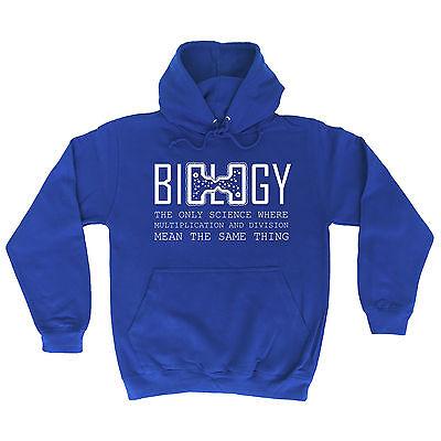 Biology The Only Science Where HOODIE hoody Geek Nerd Top Funny birthday gift