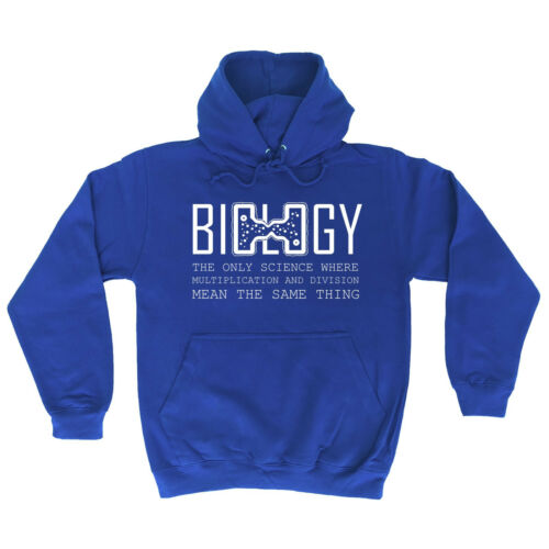 BIOLOGY THE ONLY SCIENCE WHERE HOODIE hoody geek nerd funny birthday gift 123t