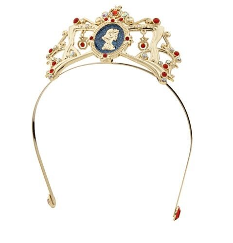 Disney Deluxe Snow White Jewel Tiara Costume Headband Girls Princess Crown NEW