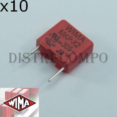 lot de 10 Condensateur 6.8nF MKP-X2 305VAC RM7.5 10/% Wima