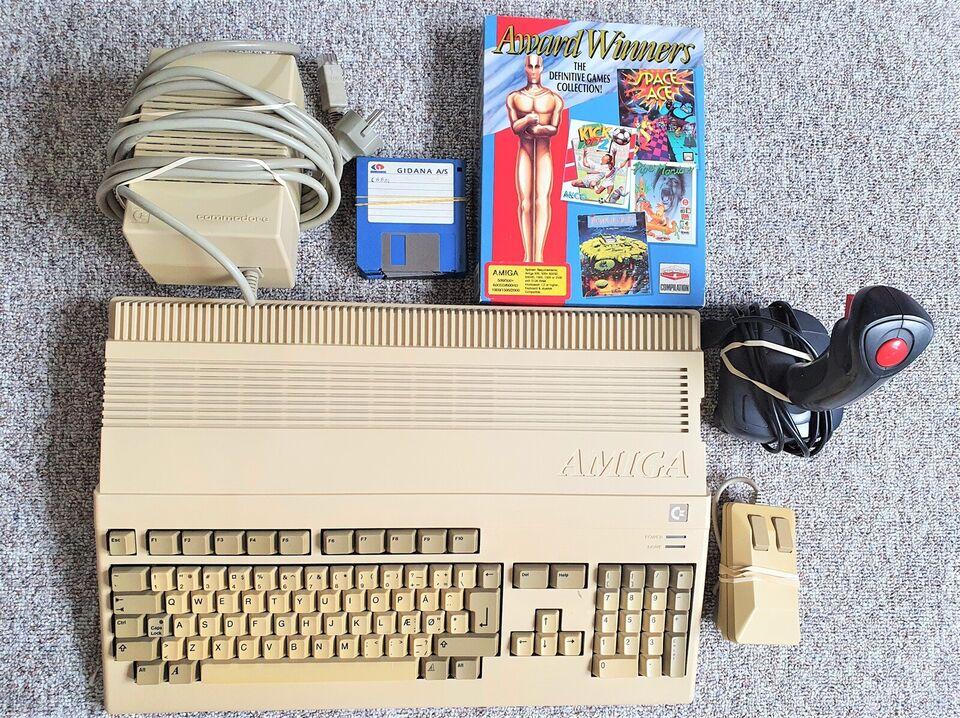 ** SOLGT ** Amiga 500, spillekonsol
