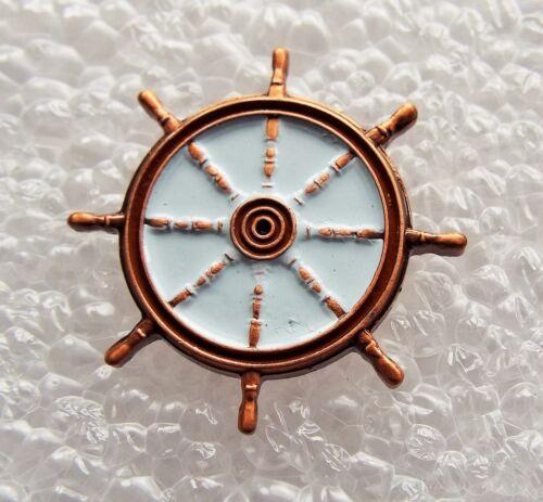 Ships Wheel enamel pin / lapel badge Steamer Canal barge Yatch Narrowboat