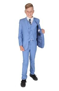 Boys-Suits-5-Piece-Light-Blue-Wedding-Suit-Page-Boy-Age-2-to-15-Years