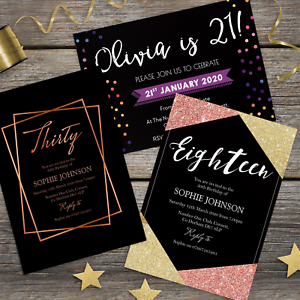 Image Is Loading 18th 21st 30th 40th 50th 60th Birthday Invitations