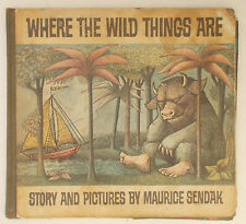 1963 WHERE THE WILD THINGS ARE by Maurice Sendak HARDCOVER First Edition