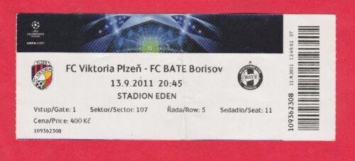Orig.Ticket  Champions League   2011/12  VIKTORIA PLZEN BATE BORISOV  !! Fußball Sammeln & Seltenes
