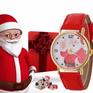 NUOVO-donne-ragazze-Faux-Leather-Belt-Orologio-Casual-orologio-da-polso-al-quarzo-regalo-di-Natale