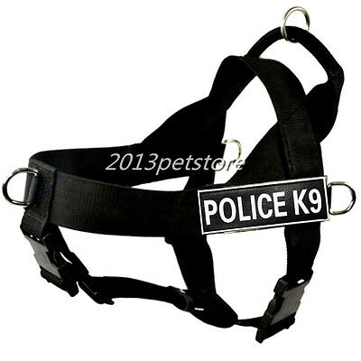 Free 2 POLICE K9 Velcro Patches Nylon Strap Dog Harness large Service Dog vest