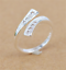925-Silver-Plated-Rings-Finger-Band-Adjustable-Ring-Fashion-Women-039-s-Jewelry-New thumbnail 2