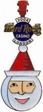 Hard Rock Cafe LONDON CASINO 2004 CHRISTMAS PIN Father Time Guitar SANTA  #24819