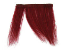 "CLIP-IN HUMAN HAIR FRINGE BANGS CYBERLOX BLOOD RED UNCUT 8"""