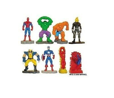 Marvel Super Heroes Buildable  figure Cake topper 8 fig