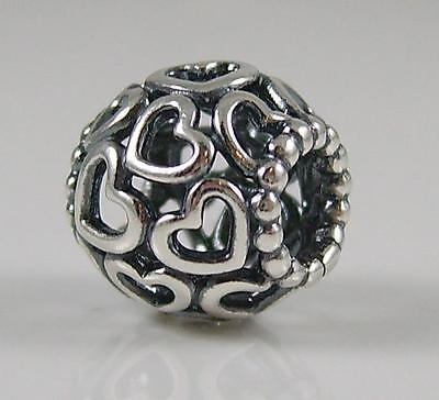 Genuine Authentic Pandora Silver Open Your Heart Charm Bead 790964
