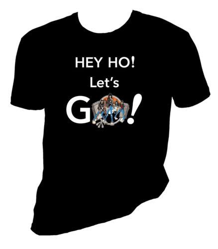 the Ramones t shirt, Hey Ho! Let's Go!, the Ramones, Sizes S-6X,