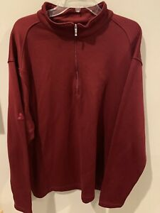 Nike-Golf-Men-039-s-TEAM-Red-1-4-zip-Zip-Neck-Pullover-Sports-Cover-up-SIZE-XL